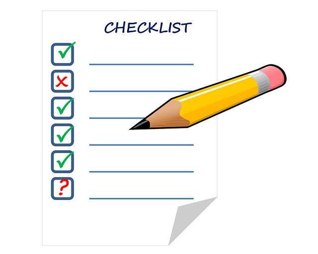 たまにしかやらない仕事には「チェックリスト」が有効