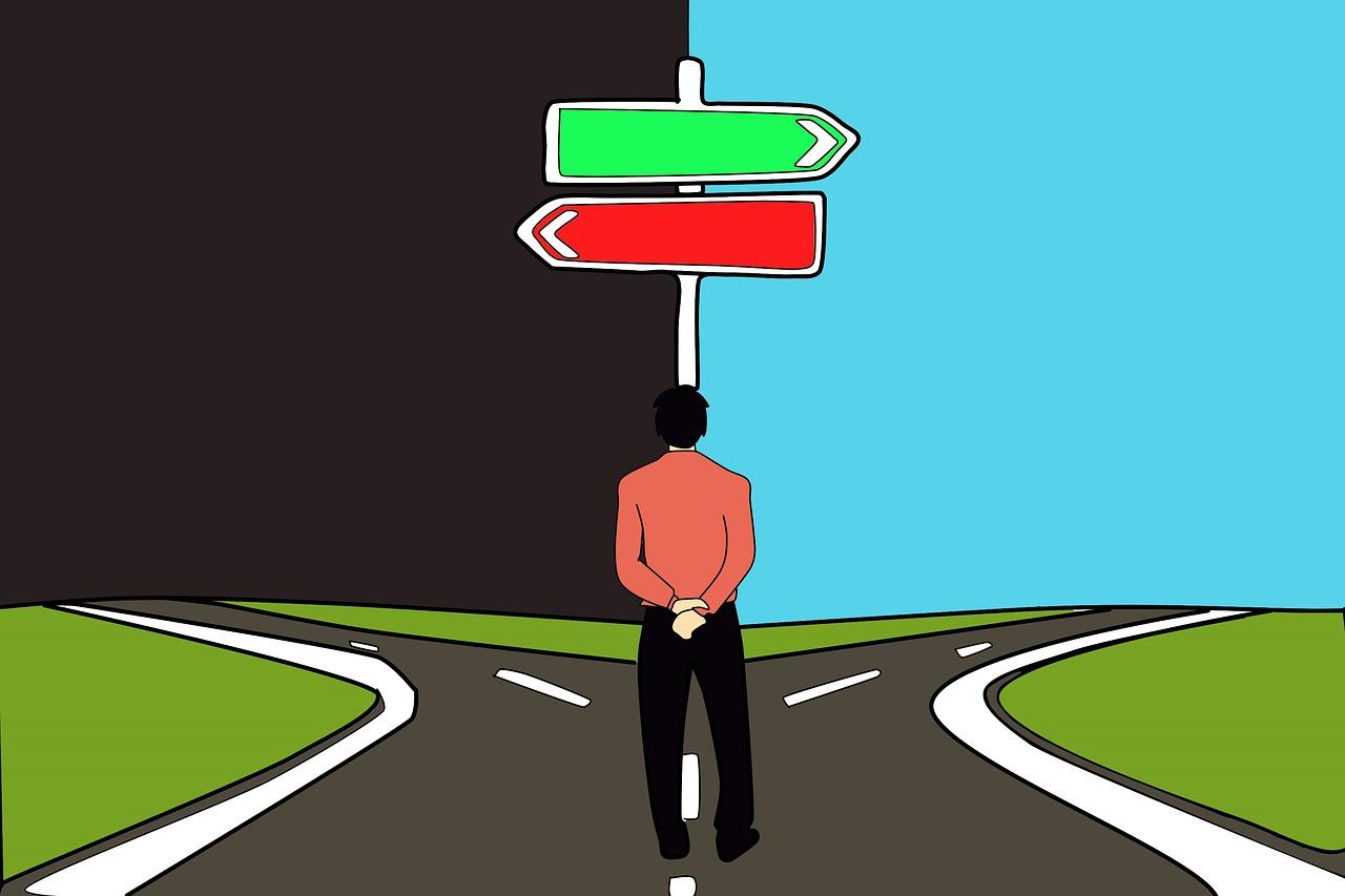 自分が選んだ道・自分の決断が最善と思い込めるかどうか。最後は神のみぞ知る!